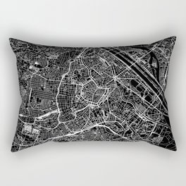 Vienna Black Map Rectangular Pillow