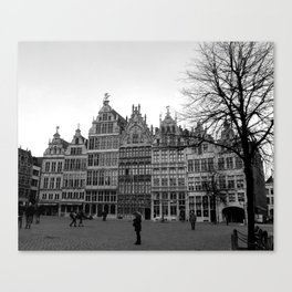 The Great Market Square of Antwerp Canvas Print