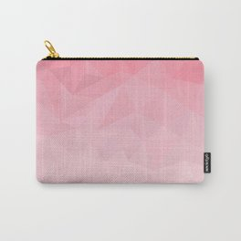 light pink polygon Carry-All Pouch