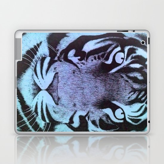 Be a Tiger (Blue) Laptop & iPad Skin