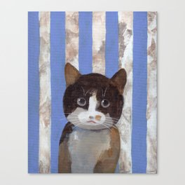 Missy or A Cat with Blue Stripes Canvas Print