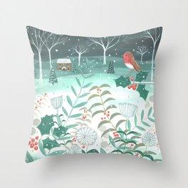 Country Christmas Throw Pillow