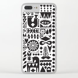 Forest print Clear iPhone Case