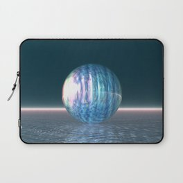 Glowing Blue Sphere Laptop Sleeve