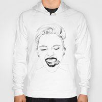 miley Hoodies featuring Miley by Emily Lasbury