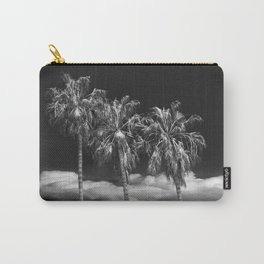 Palm Trees in Black and White on Cabrillo Beach Carry-All Pouch