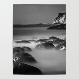 Exposed Bowling Ball Beach Northern California Poster