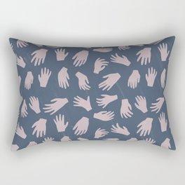 Hands Pattern Rectangular Pillow