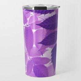 Ultra Violet Purple Leaves Travel Mug