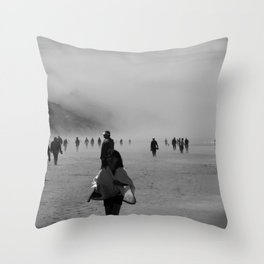 Disappear Into the Fog Throw Pillow