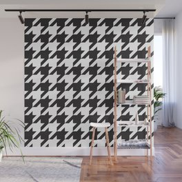 Houndstooth (Black and White) Wall Mural
