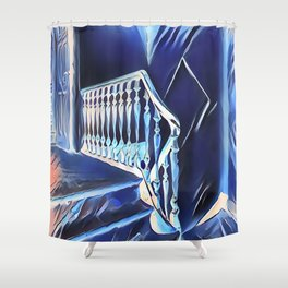 Eerie Paranormal Staircase Shower Curtain