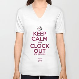CW Keep Calm and Clock Out Unisex V-Neck