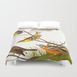 Arkansaw Siskin Bird Duvet Cover