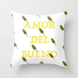 Amor Del Bueno Throw Pillow