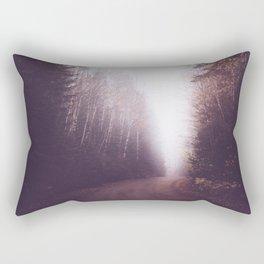 Foggy Forest Trail Rectangular Pillow