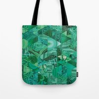 malachite Tote Bags featuring Malachite Fusion by Kiss the Sky
