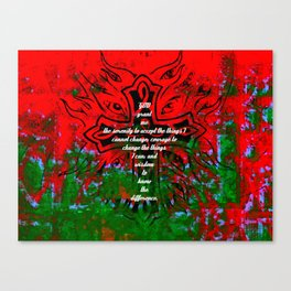 Serenity Prayer Inspirational Quote With Creative Motivational Art Canvas Print