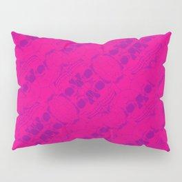 Hipster Purple Skulls Pattern Vector Neon Pink Pillow Sham