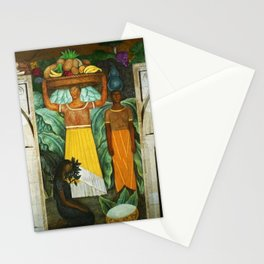 Tehuana Women Bringing Fruit to Market by Diego Rivera Stationery Cards