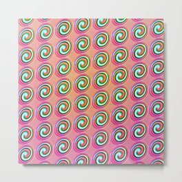 Candybuttons Pattern Metal Print