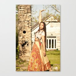 Of the Queen Heart High Canvas Print