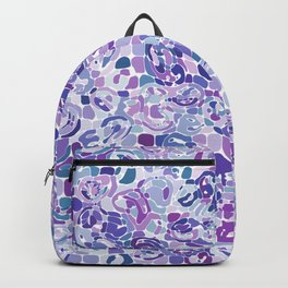 Blue and Purple Blobs Backpack