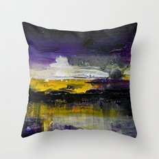 Purple Abstract Landscape Throw Pillow