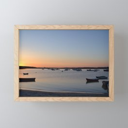 Brine & Boats • Sunset at Peaceful Pine Point Framed Mini Art Print