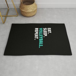 Eat Sleep Volleyball Gift Player Coach Mom Rug