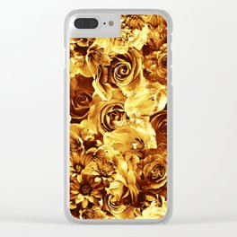 flowers 54 Clear iPhone Case