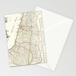Vintage Map of Israel (1770) Stationery Cards