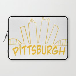 Pittsburgh Skyline Gold Laptop Sleeve
