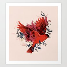 Blooming Bird Art Print