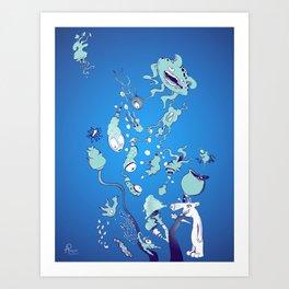 Aquatic Creatures Art Print