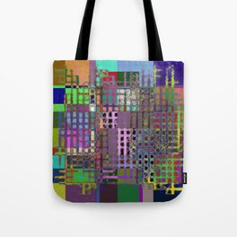 Pastel Playtime - Abstract, geometric, textured, pastel themed artwork Tote Bag