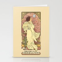 nouveau Stationery Cards featuring La Dauphine Aux Alderaan by Karen Hallion Illustrations