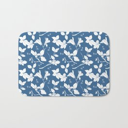 Drawings from Stonecrop Garden, Pattern in Blue & White Bath Mat