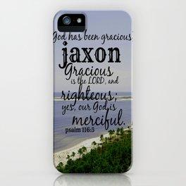 Jaxon iPhone Case