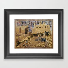 Clearing the Road, Kandahar Province, Afghanistan Framed Art Print