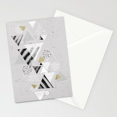 Geometric abstract triangles Stationery Cards