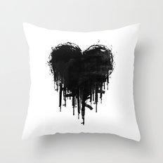 Dark Heart Throw Pillow
