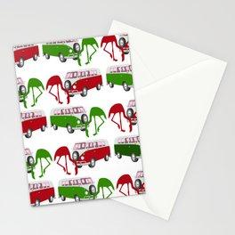 Flamingo RV Park Tropical Christmas Holiday Stationery Cards