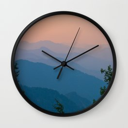 Complementary Mountains Wall Clock