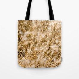 Golden Autumn Grass Tote Bag