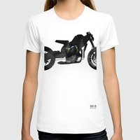 cafe racer T-shirts featuring cafe racer bike  by Daniele Faro