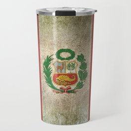 Old and Worn Distressed Vintage Flag of Peru Travel Mug