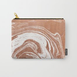 Marble suminagashi copper metallic japanese spilled ink watercolor ocean swirl marbling Carry-All Pouch