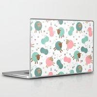knitting Laptop & iPad Skins featuring Knitting sheep by Heleen van Buul