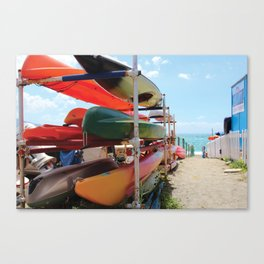 Kayaks in the Cinque Terre Canvas Print